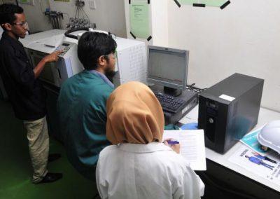 a GCMS- gas chromotography mass spectrometer
