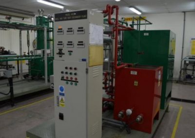 shell and tube heat exchanger plant