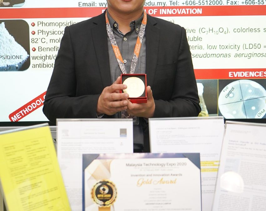 UniKL MICET won gold medal at the Malaysia Technology Expo (MTE 2020)