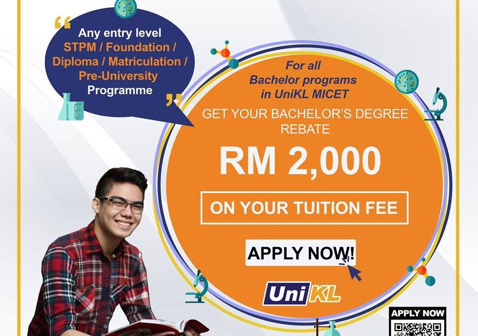 Apply NOW to get a special rebate on tuition fees